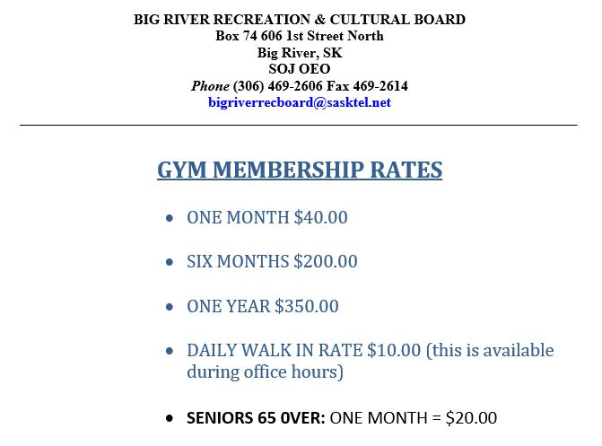 Gym Prices